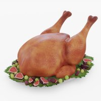 3D thanksgiving turkey model