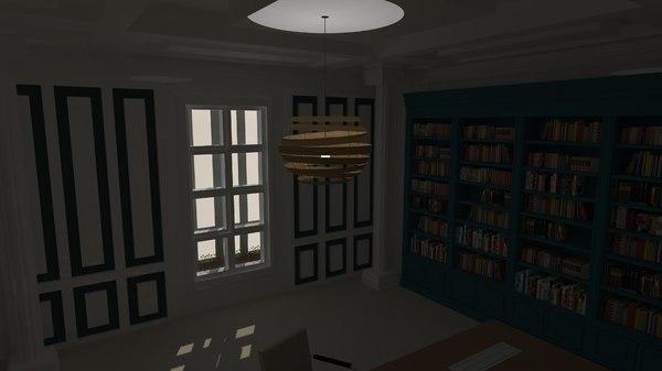 classical office 3D model