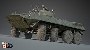 3D btr-90 rostok apc