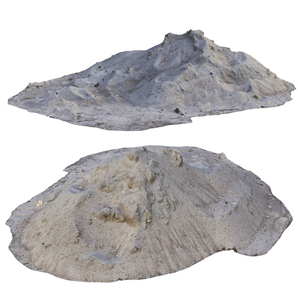 3D ultra realistic sand scan model