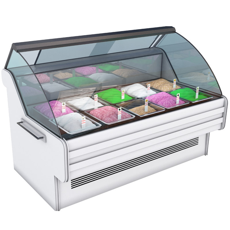 gelato case ice 3D model