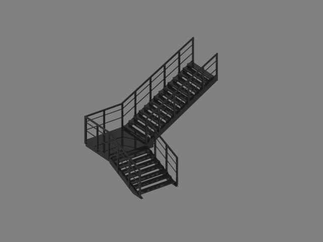 industrial staircase 3D model