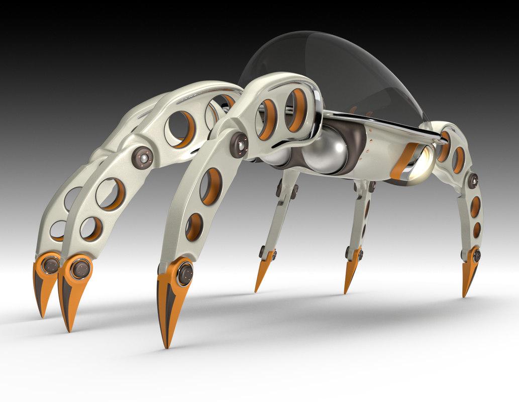3D rigged planetary crawler base
