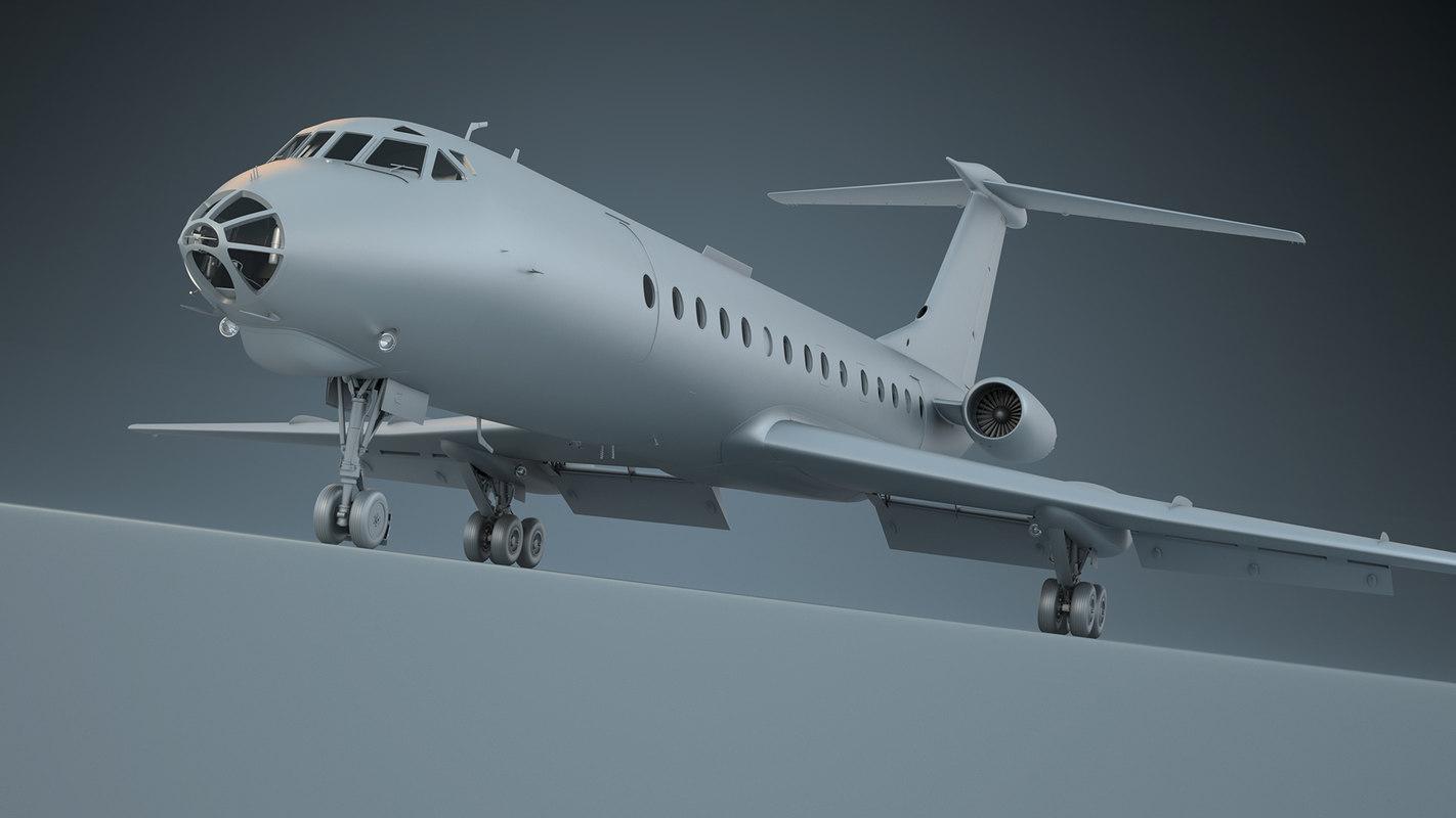 tu-134 a3 3D