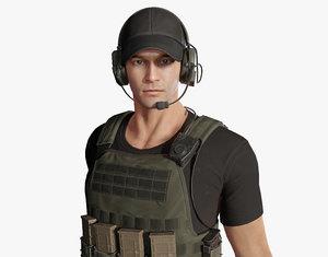 army man 3D model