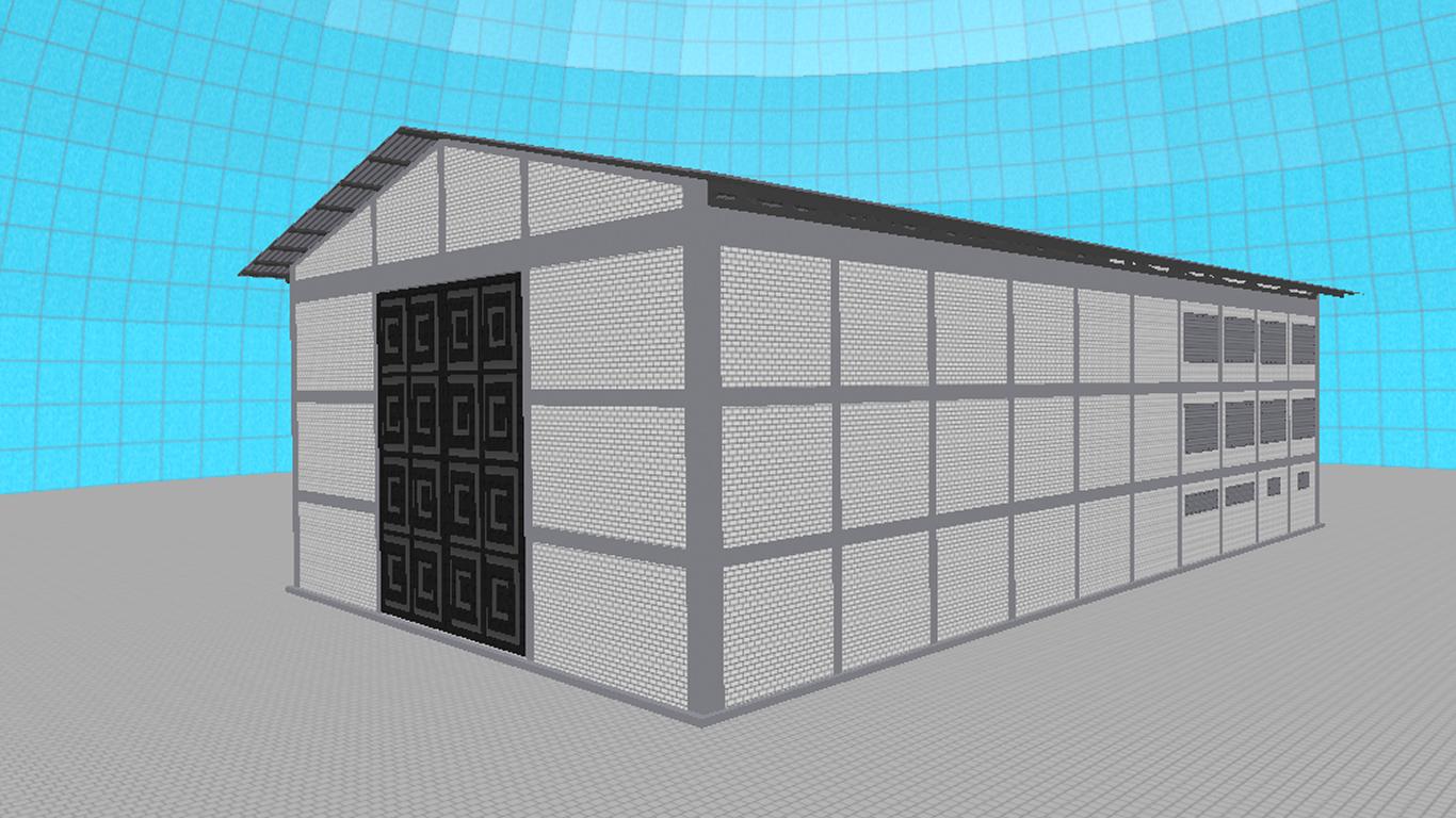 3D model shed