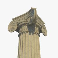 ionic column corner model