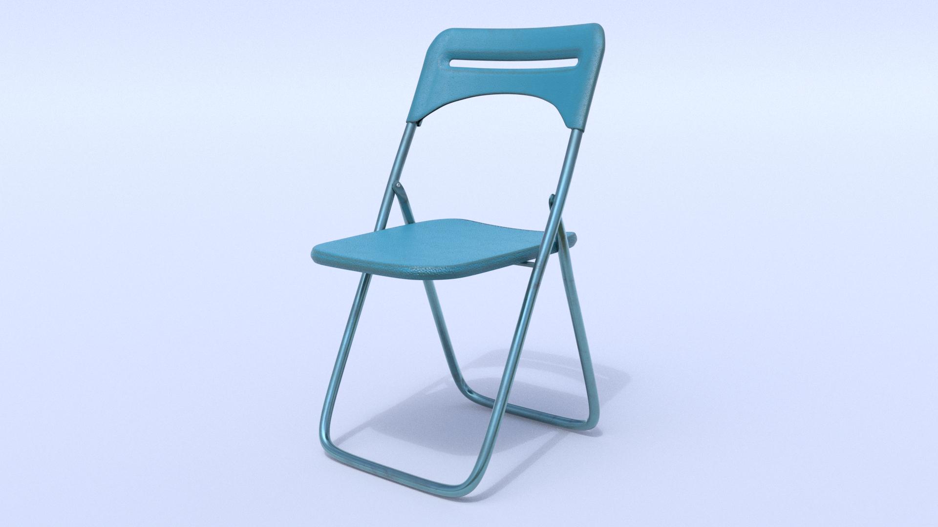 Sedia da cucina IKEA blu di base