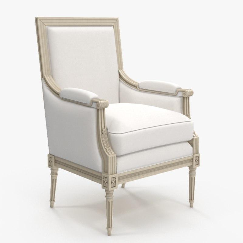 3D arm chair classic salda