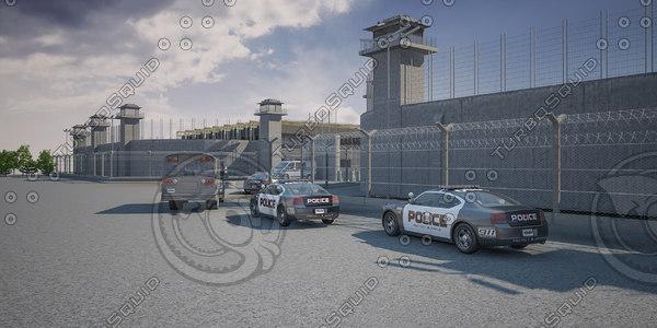prison scene jail 3D model