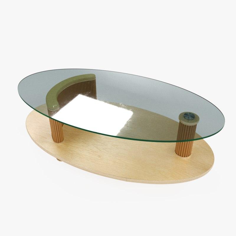 glass journal table 3D model
