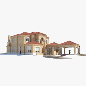 classic house exterior model