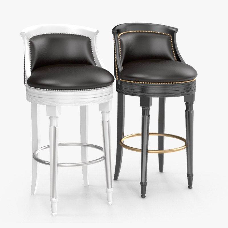 bar chair angelo cappellini 3D