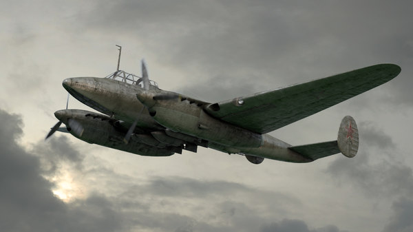 oleg pe-2 dive bomber 3D model