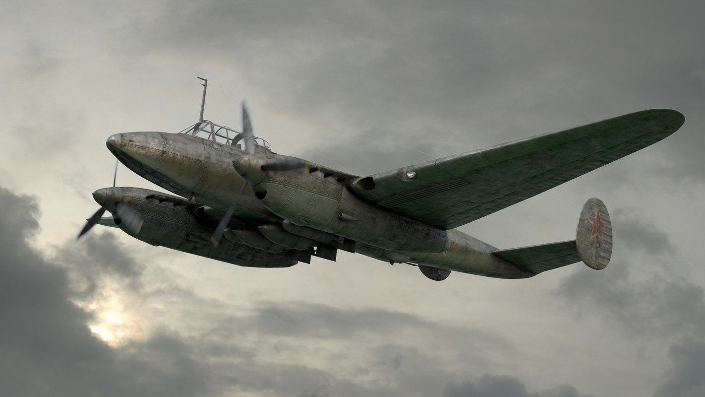 oleg pe-2 dive bomber 3D model