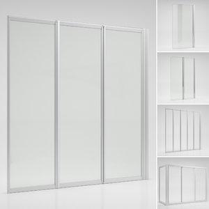 3D curtains bathtubs ravak set