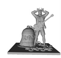 AC-DC Angus Young statue