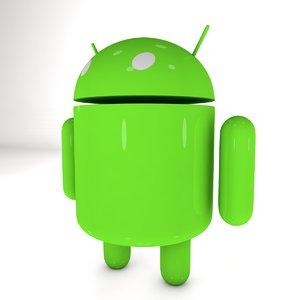 google android mascot 3D model