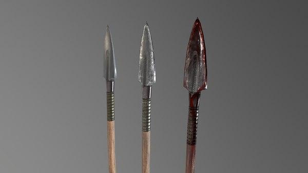spear 1 3D model
