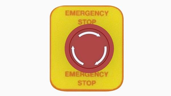 3D button emergency