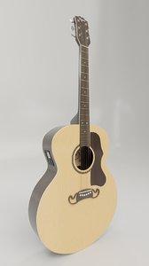 pbr guitar 3D model