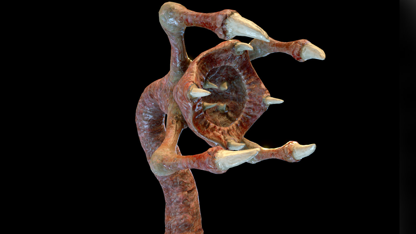 3D meat clawed worm model