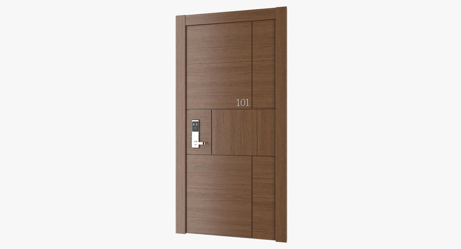 3D model hotel door lock