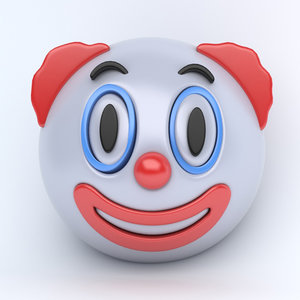 3D emoji clown model