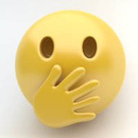 emoji cover mouth 3D model