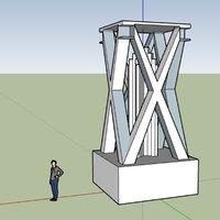 3D model sketchup monument