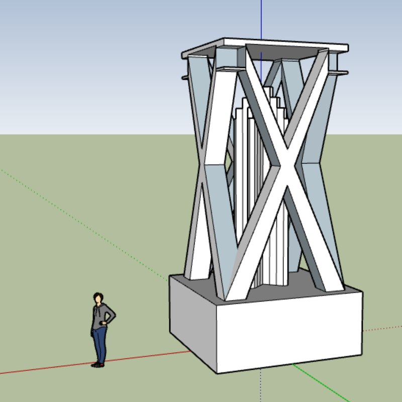 3D model sketchup monument