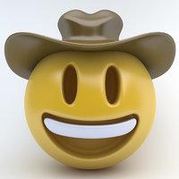 3D emoji cowboy
