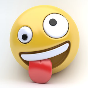 3D emoji crazy