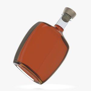 3D bottle glass model