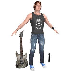 rockstar guitar microphone 3D