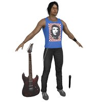 3D rockstar guitar microphone
