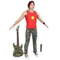 rockstar guitar microphone 3D model