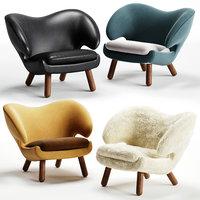 3D pelican chair