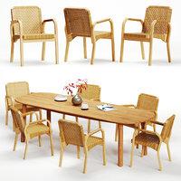 Artek Alvar Aalto - Armchair 45 and Mbrace Table
