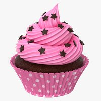 3D cup cake model