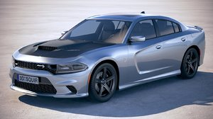 3D dodge charger srt model