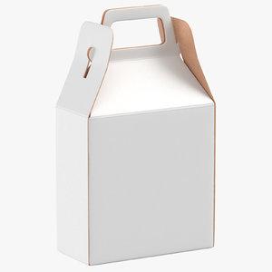 paper box 02 white 3D model