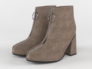 women ankle boots 3D model