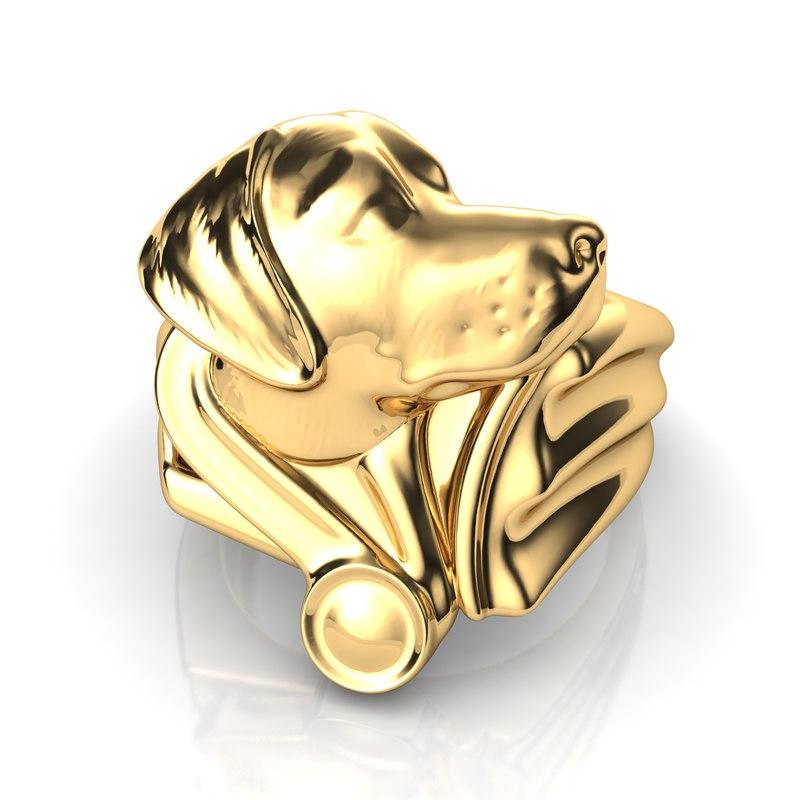 3D labrador ring