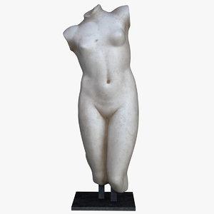 fragmentary statue aphrodite 3D model