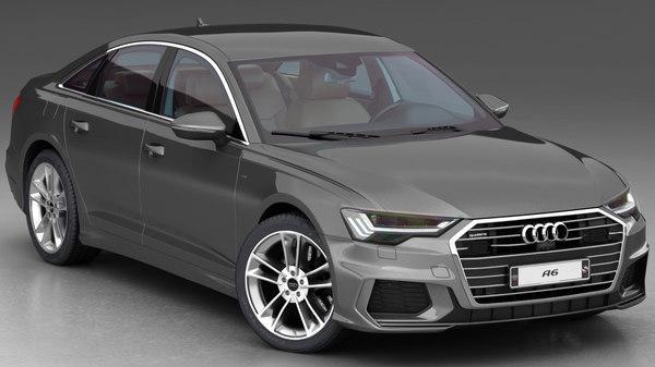 3D audi a6 2019 interior model