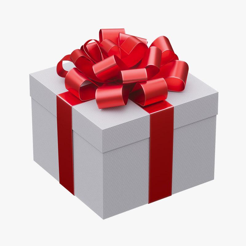 3D model gift box christmas