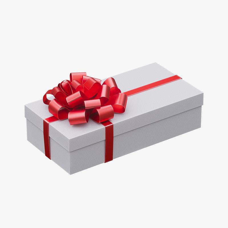 3D gift box christmas model