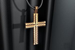 3D jewelry cross rope