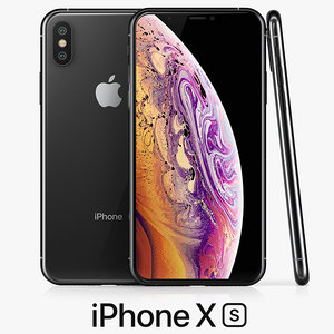 apple iphone xs space 3D model
